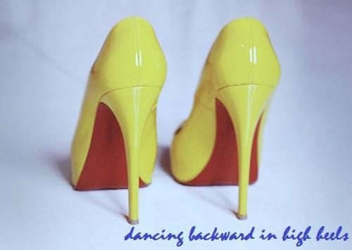 dancing backwards in high heels