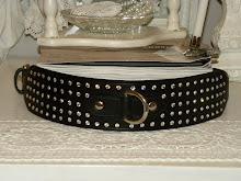 Glitterhalsband i läder & Swarowski