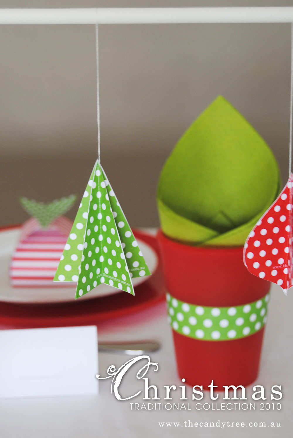 hanging decorations...so easy!! simply cut out five shapes, fold them ...