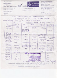 Bank of India- Salary Reciept/Cheque