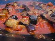 smokey eggplant and tomato pasta sauce