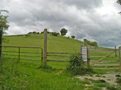 The path up to Galley Hill