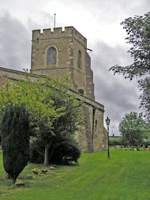 On the left, St Margarets Church, Streatley whose graveyards holds the remains of the rackmaster general, Thomas Norton. On the right, Gerry's Hole, a conservation area originally created from the building of the railway.