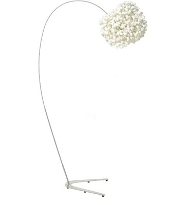 Funky fun design lighting part dos lamp uno i love the sleek simplicity of this design i can picture this in a very sophisticated room perhaps even where white is the pop of color found mozeypictures Gallery