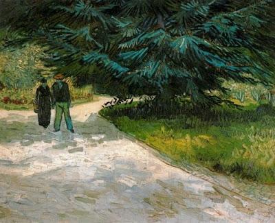 Parella al parc d'Arles: El jardí del poeta III (Vincent Van Gogh)