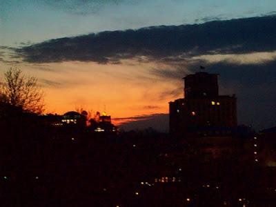 Закат над Петровской аллеей