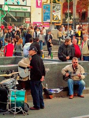 Музыканты на Крещатике