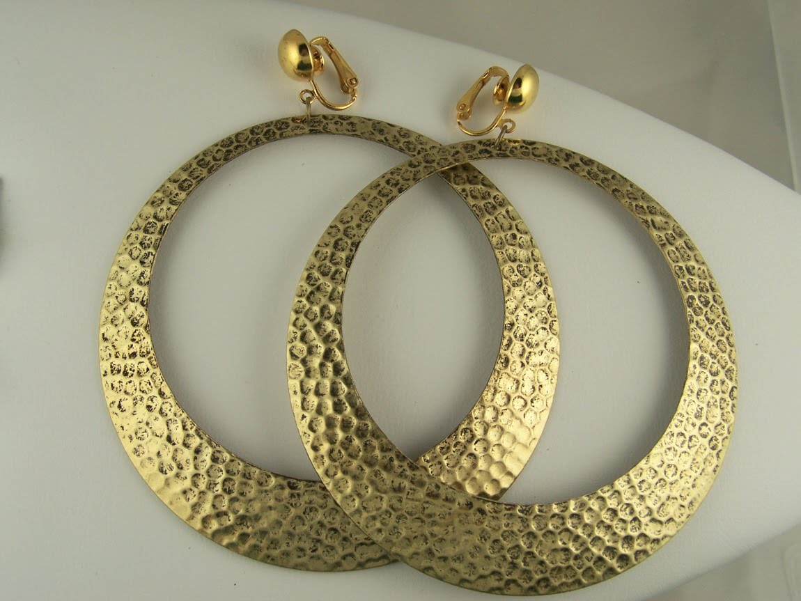 Extra Large Hoop Clip On Earrings
