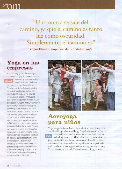 Artículo sobre Centro de Yoga Narayan