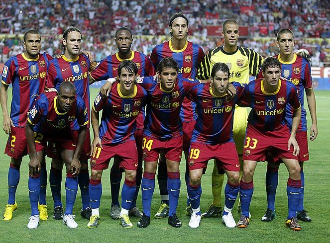 barcelona fc players. fc barcelona team 2010