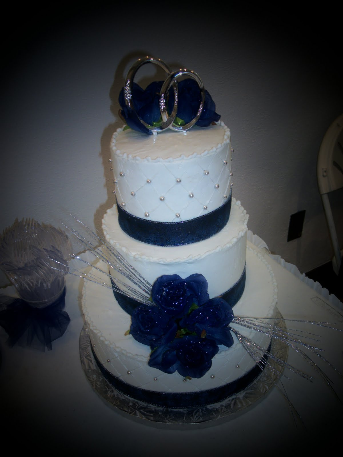KATHEY S KONFECTIONS blue and silver wedding