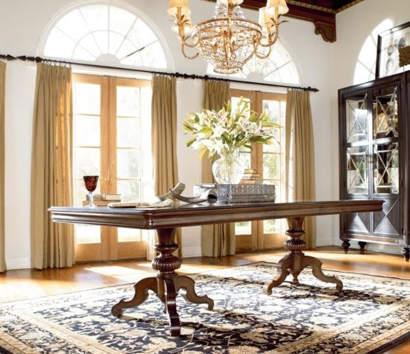 Fresh Thomasville Hemingway Dining Table Set W China Cabinet