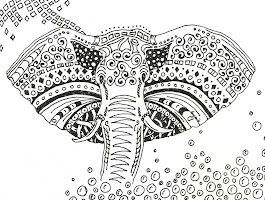 Elephant Coloring Pages Adults Art Therapy