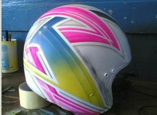 HELMET MOTORCYCLE AIR BRUSH