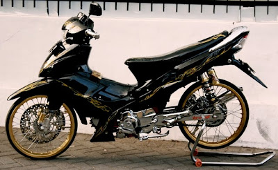 modifikasi Shogun Motor ceper