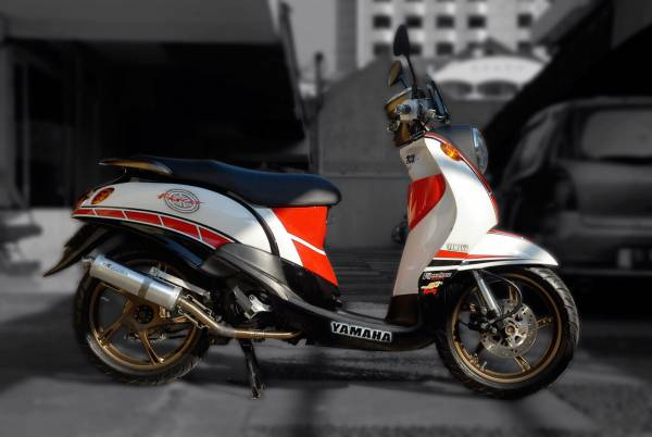 Modifikasi Yamaha Fino Sporty Retro