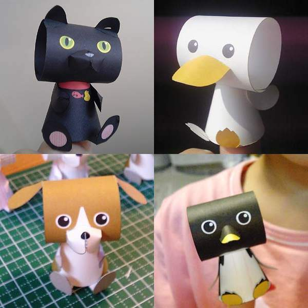 Cute Animal Papercraft Finger Puppets