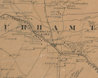 Durham Maps Early Durham City County Maps