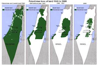 Expasión de Israel en Palestina