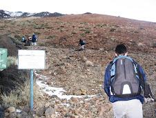 Comienzo de subida al Teide