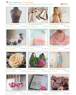 Paris in Bloom Etsy Front Page