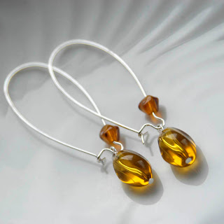 candy earrings in amber gold
