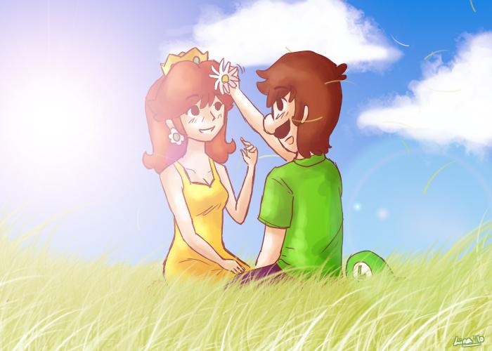 Princess daisy and luigi love