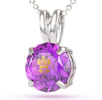 Love rose on cubic zirconia