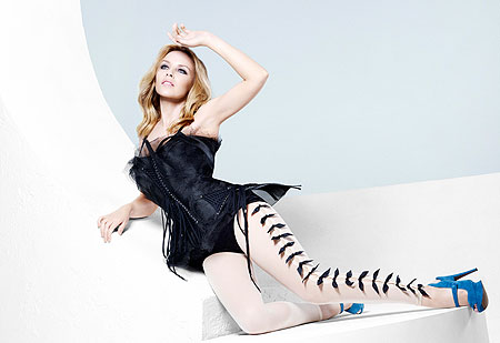 The heir apparent to Madonna's throne, Kylie Minogue, has unfurled her ...