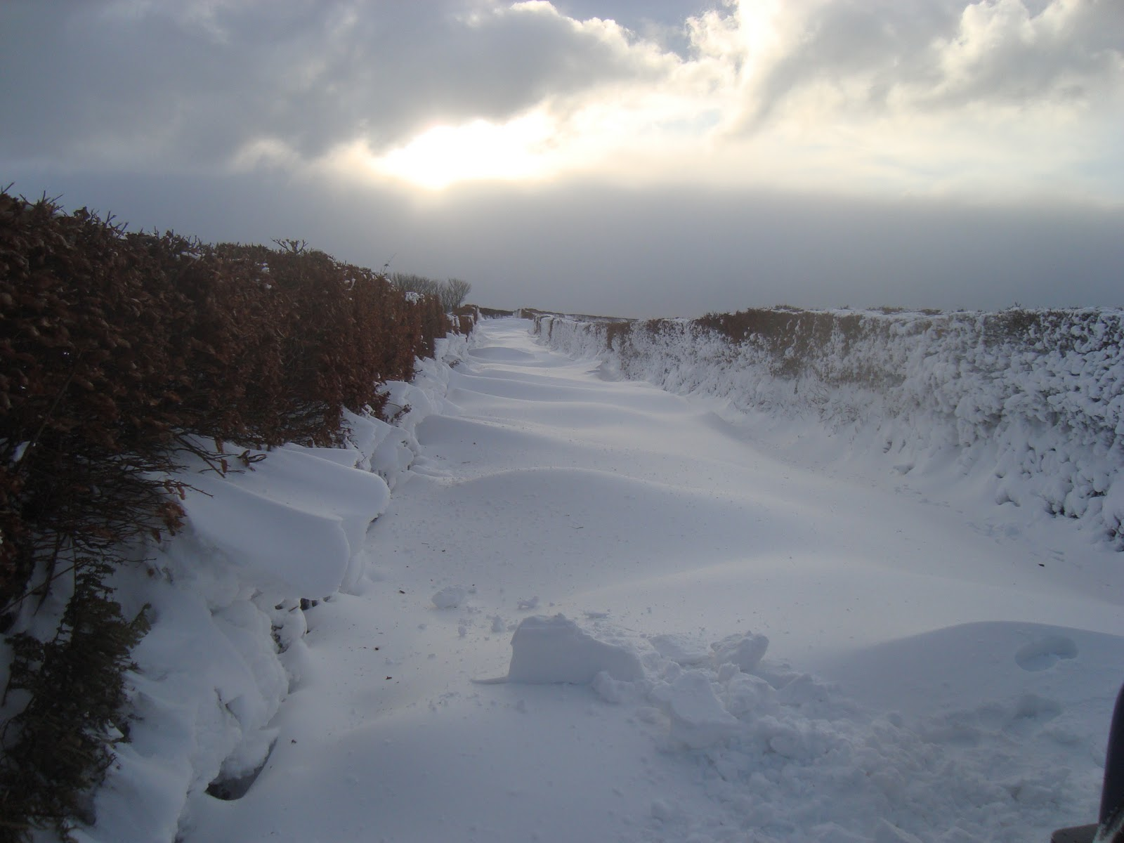 Rockley farm the best 4x4 with snow pics of course