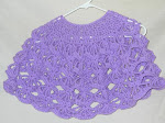 Child's Purple Poncho