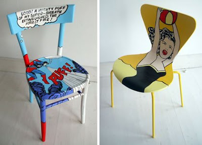 THAT GIRL from blogspot Comic Book Furniture
