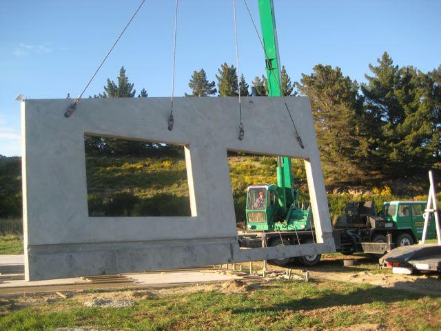 hdw construction custom concrete tilt panel house hawea flat