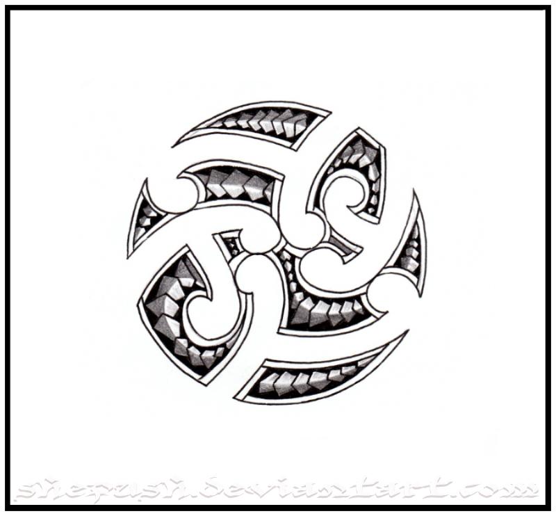 Spesso all'interno del cerchio viene raffigurato il Koru, la foglia di ...