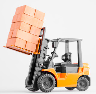 Idea of Power - Forklift carrying bricks