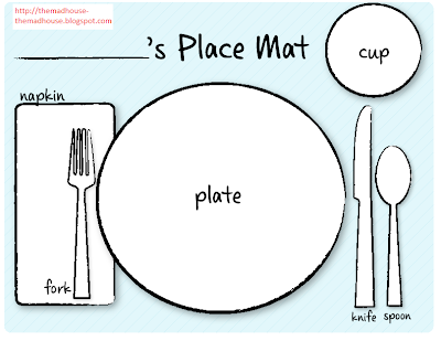Eloquent image throughout printable placemats
