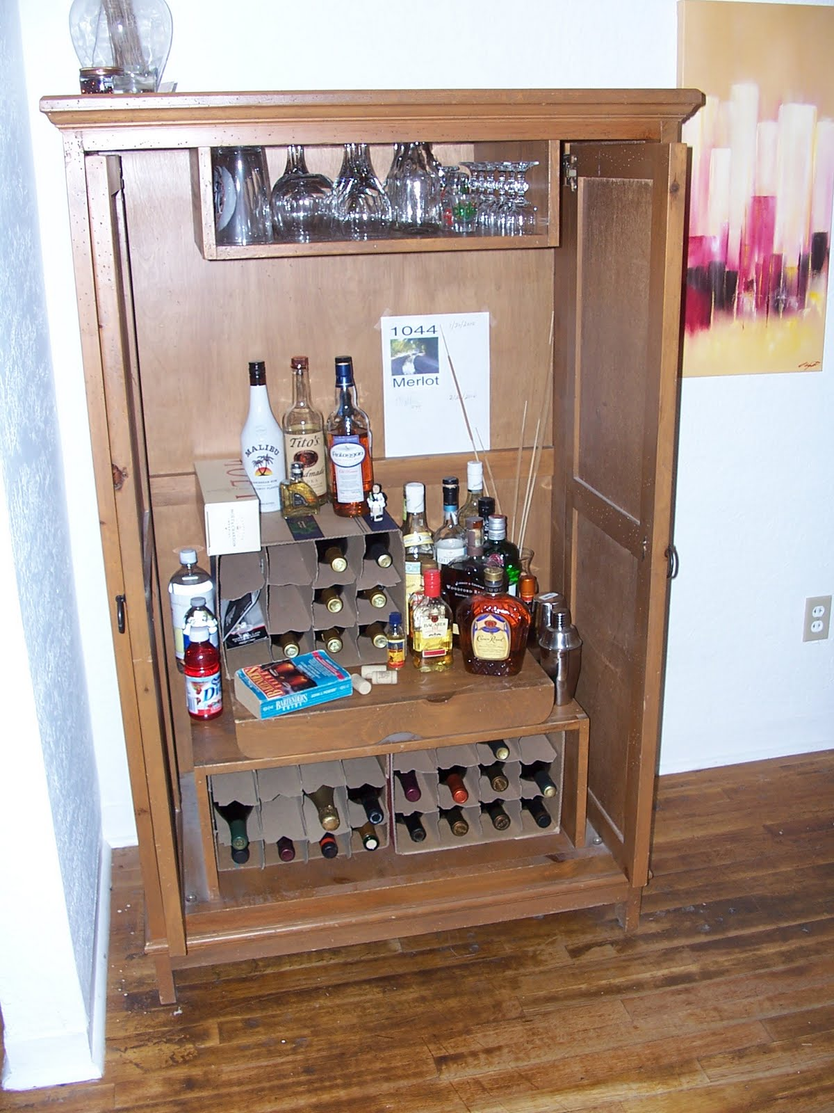 Attrayant Attic Route 66: Wine Armoire, Bar Caddy, Liquor Cabinet Out Of Old TV  Cabinet