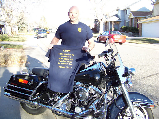 Centurion Ministry t-shirt and the ministry Harley