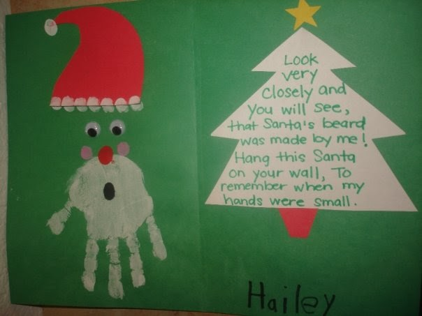 Daily life of a mommy to a princess handprint santa w poem for Christmas crafts for toddlers to make for parents