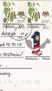 Malaysia Briefmarken
