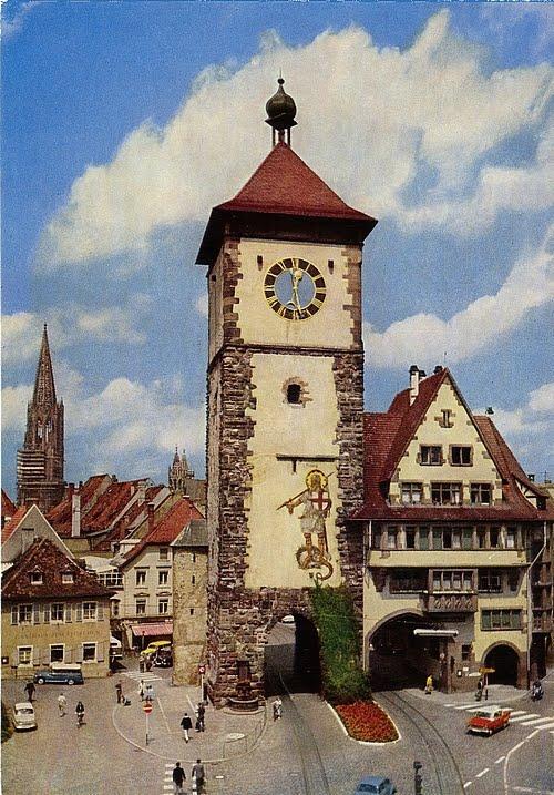 Schwabentor von Freiburg im Breisgau nach 1954
