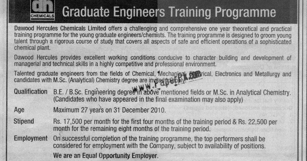 jobs for fresh engineers trainee engineers dh chemicals