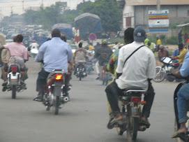Riding a Moto