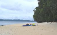 Kayak on Lee Marvin Beach Palau
