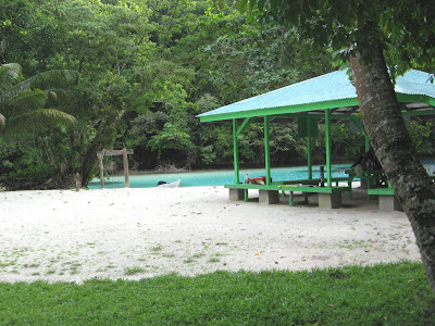 Ngchus Beach, Palau with Shelter