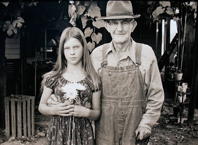 Randy Magnus, My Sister Marlaine with Grandpa, Central Valley, CA
