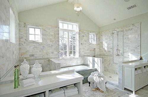 Interi rlykke inspirasjon baderom for Grey and white master bathroom ideas