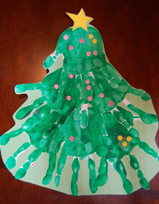 Handprint Christmas Tree Ornament