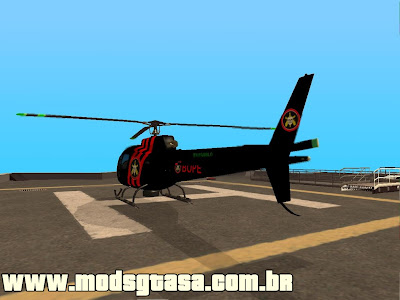 Helicoptero do BOPE 3.0 para GTA San Andreas
