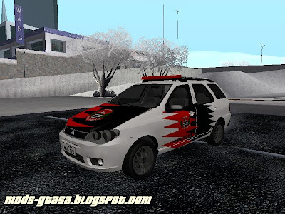 Fiat Palio Weekend Policia Civil de SP para GTA San Andreas